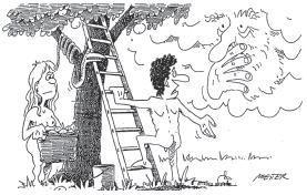 Sabbat-Sonntag Karikatur